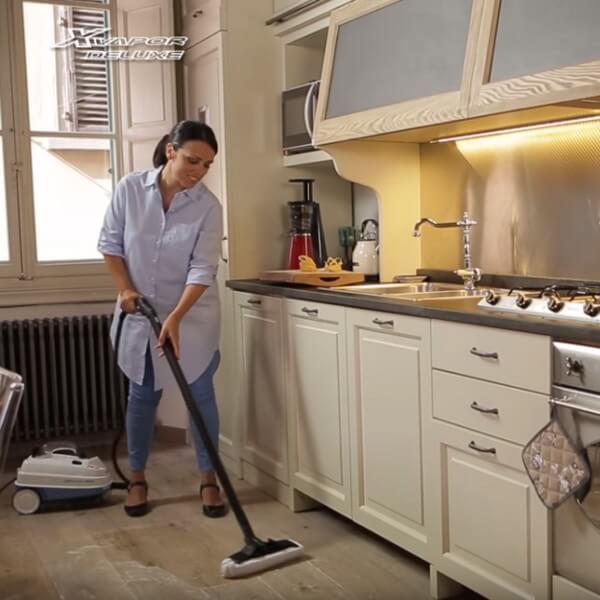 pulitore a vapore a traino lavapavimenti a vapore ariete 4146 xvapor deluxe