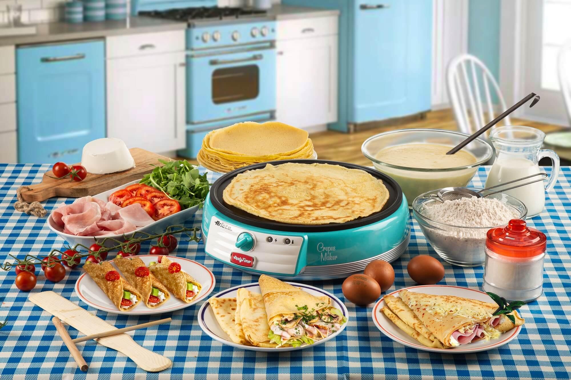 crepes maker party time ariete 202 azzurro