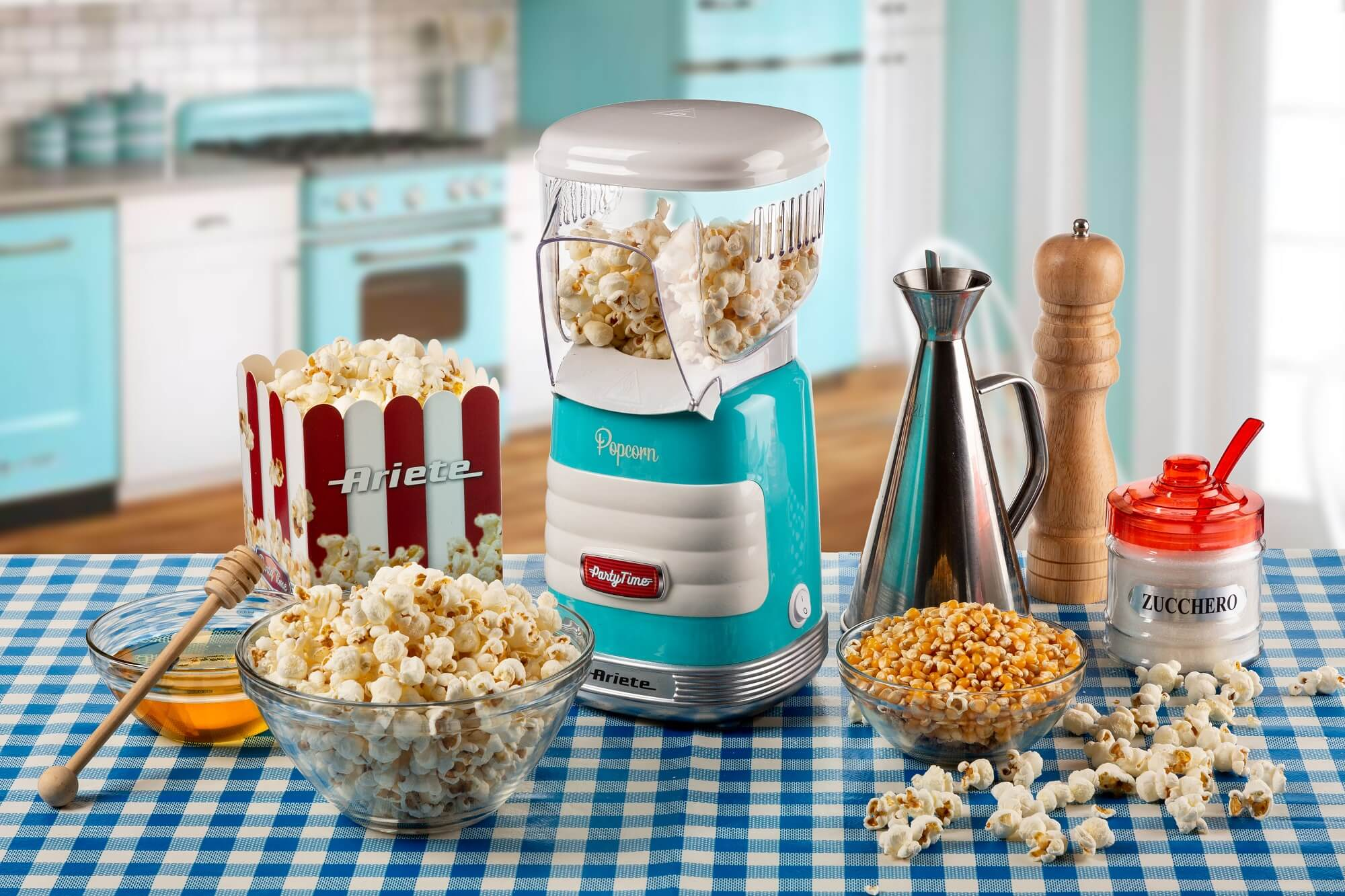 macchina per popcorn party time ariete 2956 azzurro