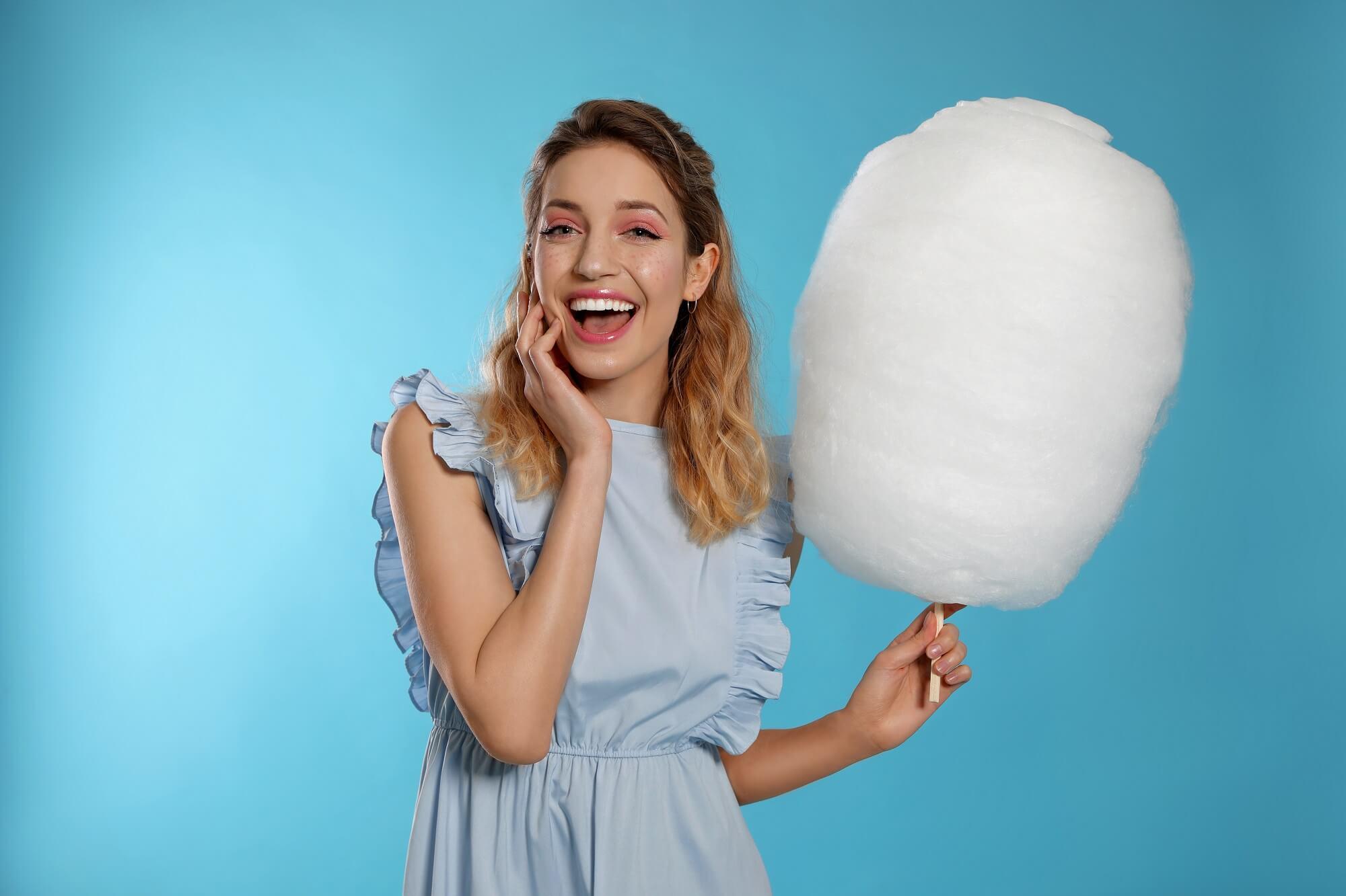 cotton candy macchina per zucchero filato ariete 2973 azzurro