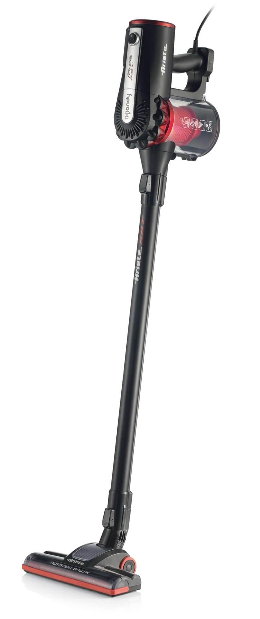 scopa elettrica con filo e aspirabriciole handy force