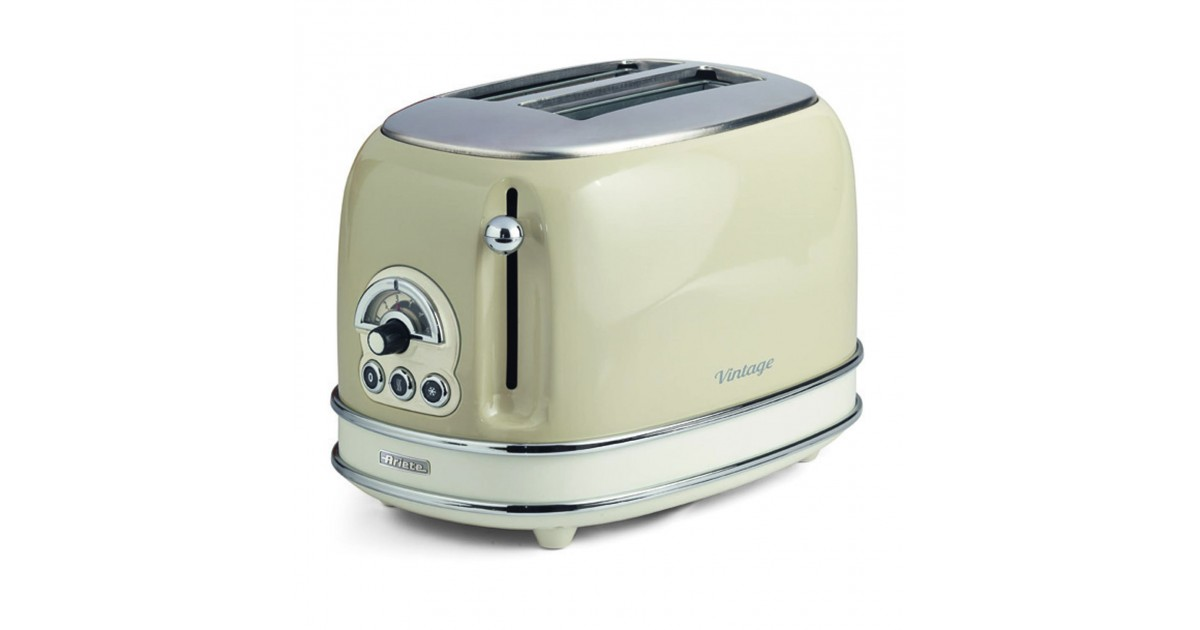 Toaster vintage 2 fette beige ariete store for Tostapane ariete vintage